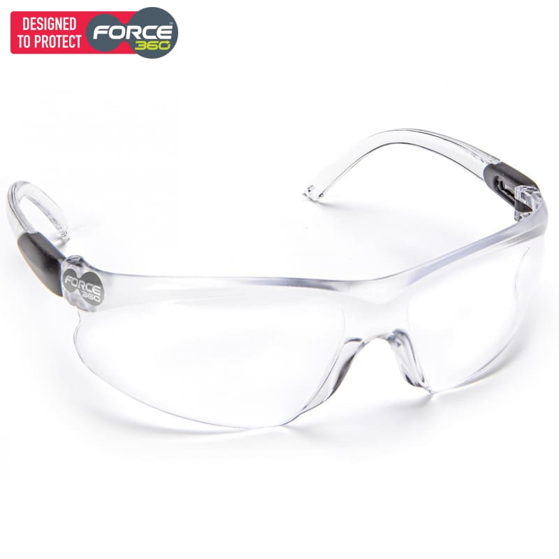 Force360 Pulse Clear Lens Safety Spectacle Wear