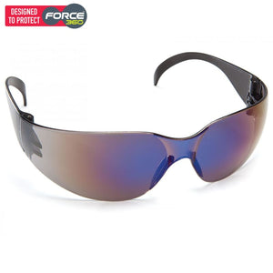 Force360 Radar Blue Mirror Lens Safety Spectacle Smoke Wear