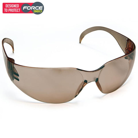 Force360 Radar Dark Brown Lens Safety Spectacle Wear