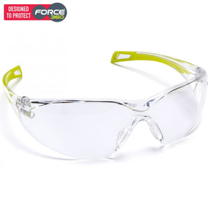 Force360 Runner Clear Lens Safety Spectacle Lime Wear