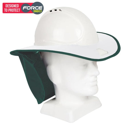 Force360 Snap Brim White / Green Safety Wear