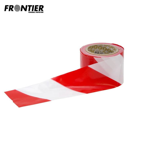Frontier Barrier Safety Tape 100M Red/white Stripe