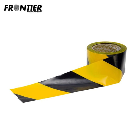 Frontier Barrier Safety Tape 100M Yellow/black Stripe