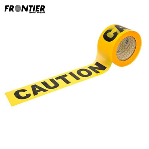 Frontier Caution Safety Tape 100M Yellow/black