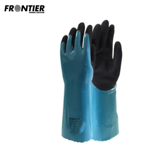 Frontier Chemtouch 35Cm Glove Blue (Buy Min. 12 Pr) Safety Wear