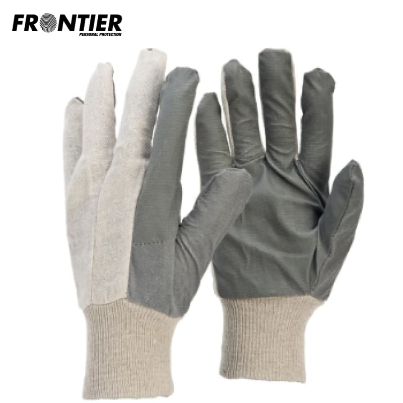 Frontier Cotton Vinyl Glove Nat/grey (Buy Min. 12 Pr) Safety Wear