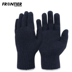 Frontier Ladies Polycotton Knit Glove Navy (Buy Min. 12 Pr) Safety Wear