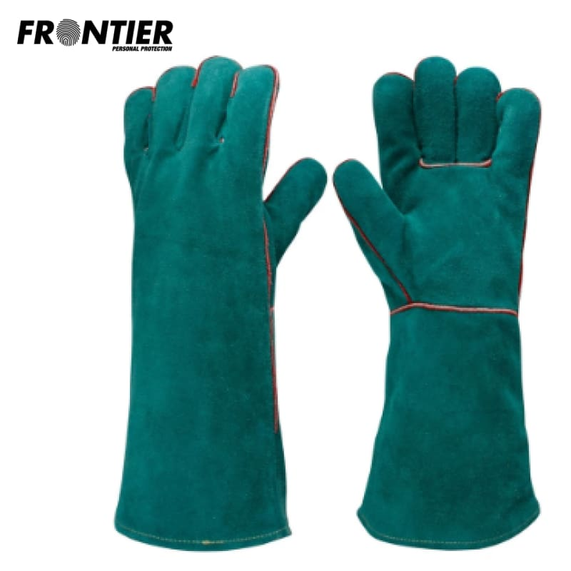 Frontier Lefties Welders Gauntlet Green (Buy Min. 12 Pr) Safety Wear
