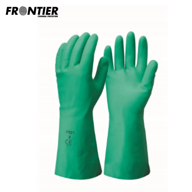 Frontier Mercury 33Cm Glove Green (Buy Min. 12 Pr) Safety Wear