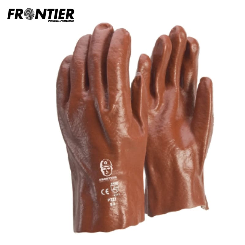 Frontier Pvc 27Cm Glove Red (Buy Min. 12 Pr) Safety Wear