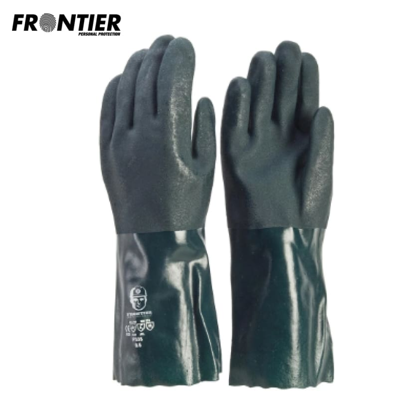 Frontier Pvc 35Cm Glove Green (Buy Min. 12 Pr) Safety Wear
