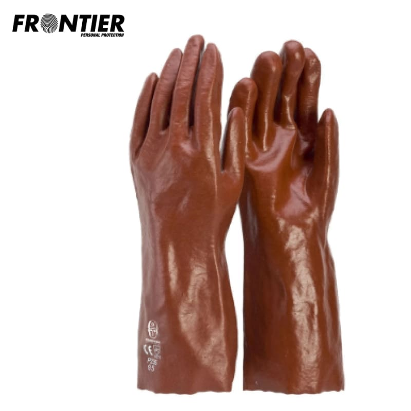 Frontier Pvc 35Cm Glove Red (Buy Min. 12 Pr) Safety Wear