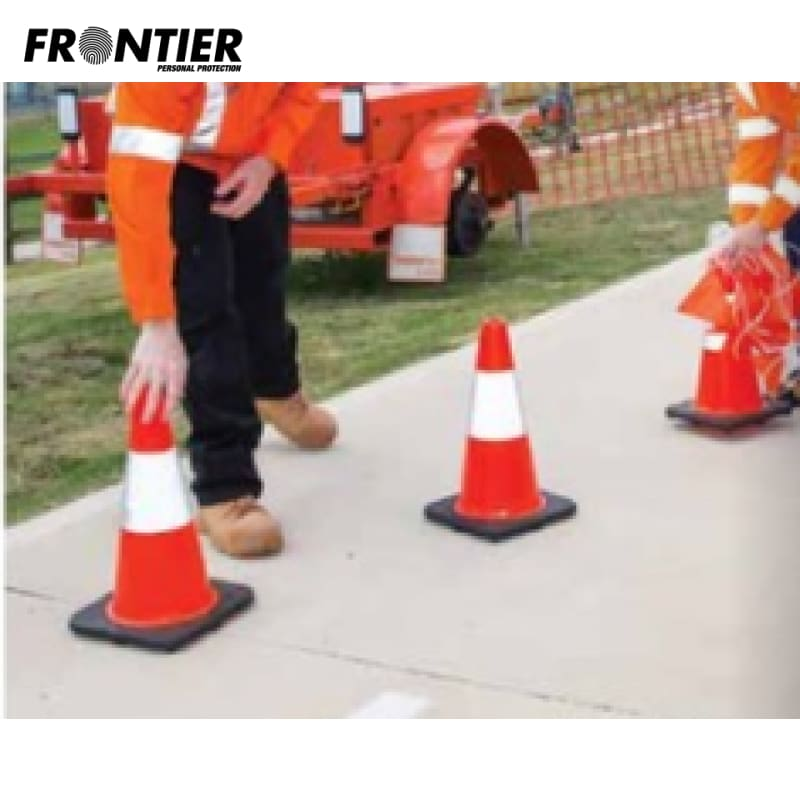 Frontier Traffic Cone Reflective Tape 450Mm Orange Ctn 6 Safety