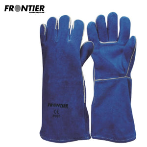 Frontier Welders Gauntlet Blue (Buy Min. 12 Pr) Safety Wear