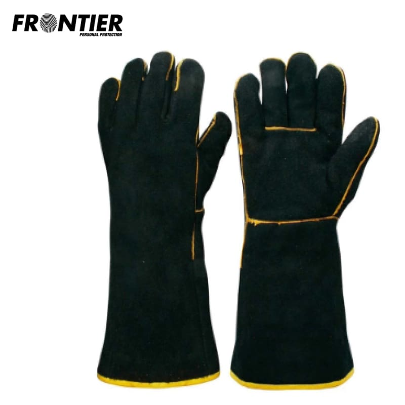 Frontier Welders Glove Black/gold (Buy Min. 12 Pr) Safety Wear