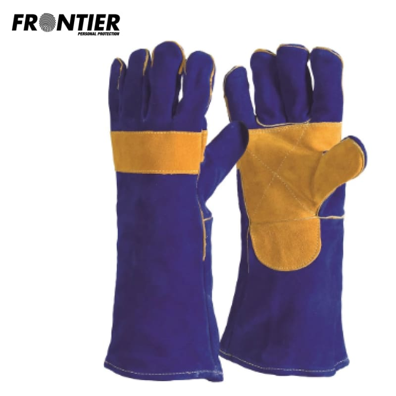 Frontier Welders Glove Blue/gold (Buy Min. 12 Pr) Safety Wear