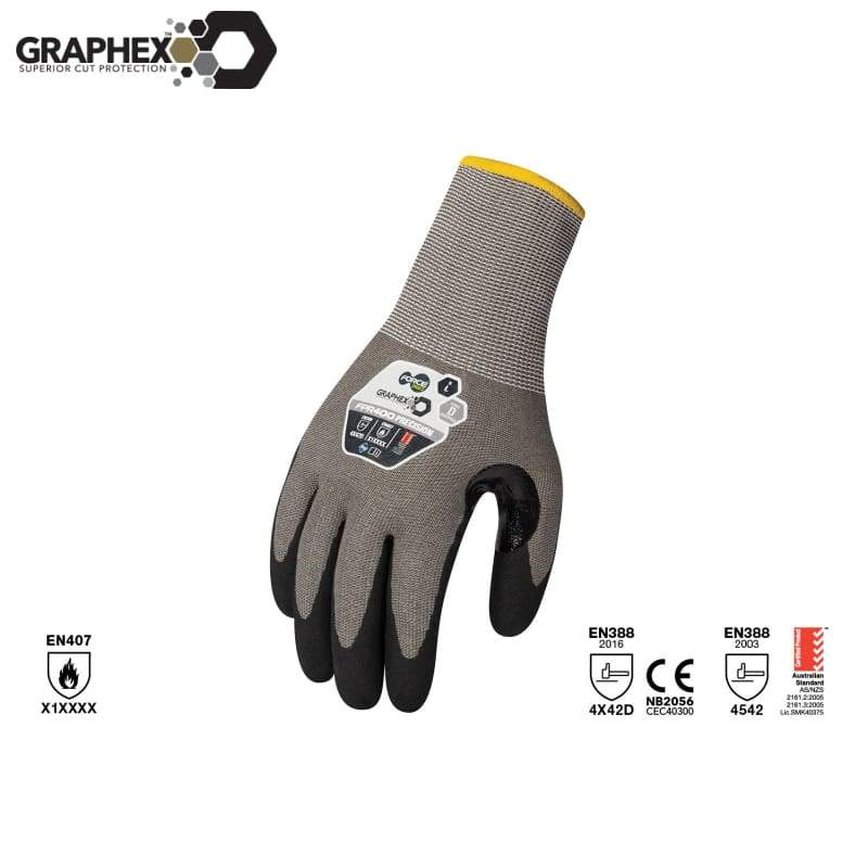 Graphex Precision Cut 5/level D Glove Grey Safety Wear