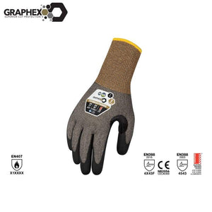 Graphex Premier Cut 5/level F Glove Grey Safety Wear
