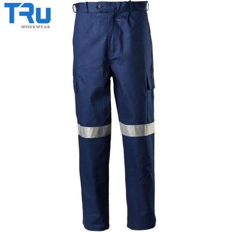 Heavy Weight Cotton Drill Cargo Pants With 3M Tape Workwear