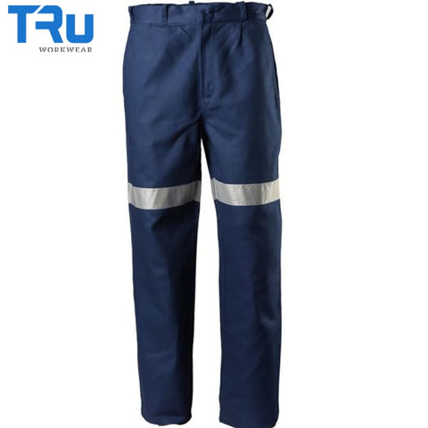 Heavy Weight Cotton Drill Work Trousers With 3M Tape Workwear
