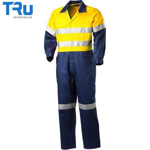 TRu Workwear - Coverall, Hvy Cotton Drill, 3M Tape, Y/N