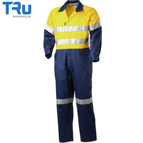 TRu Workwear - Coverall, Light Cotton Drill, 3M Tape, Y/N