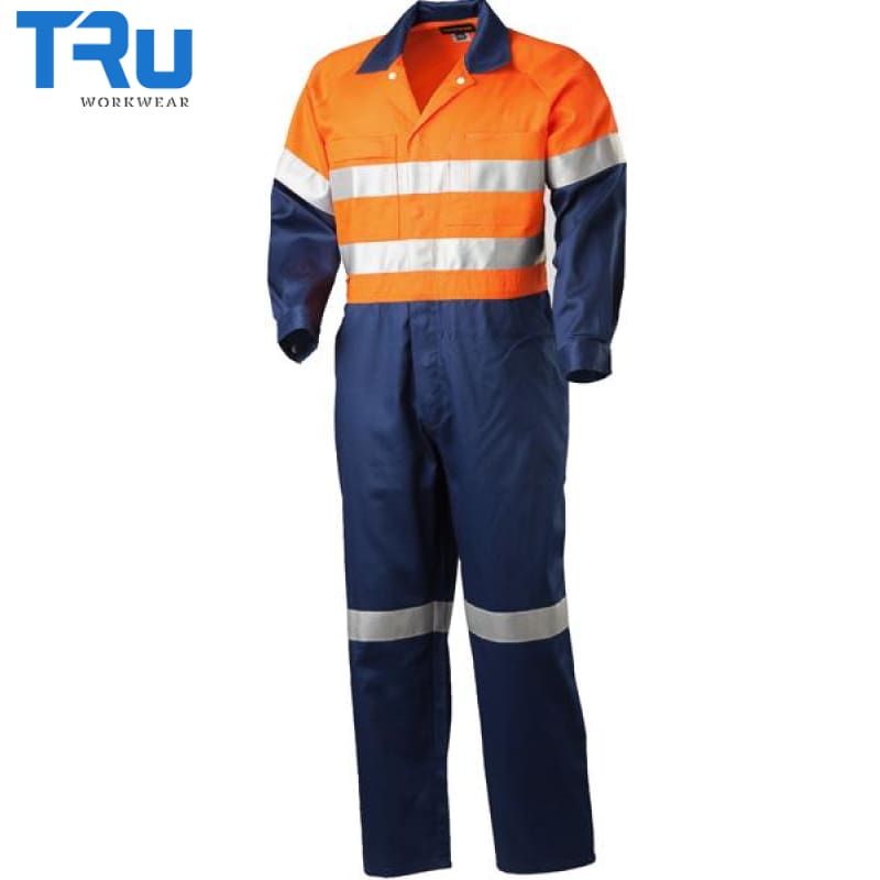 Lightweight Hi Vis Cotton Drill Coveralls With 3M Tape Workwear