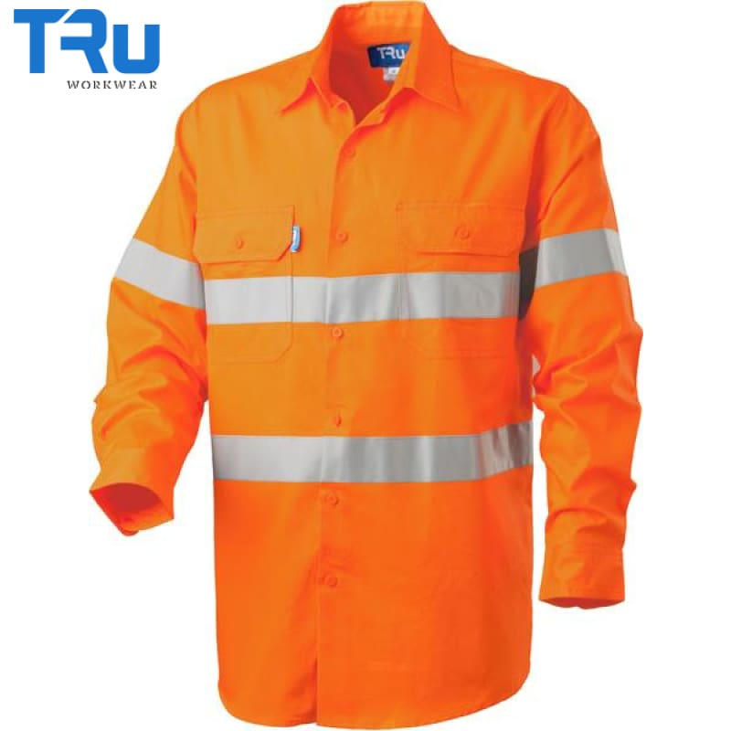 Lightweight Horiztonal Vented Shirt With 3M Tape S / Beyond Blue Orange Workwear