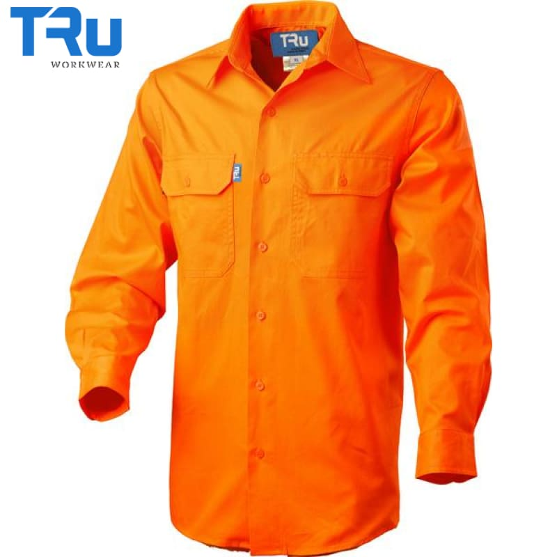 Lightweight Vertical Vented Shirt S / Beyond Blue Orange Workwear