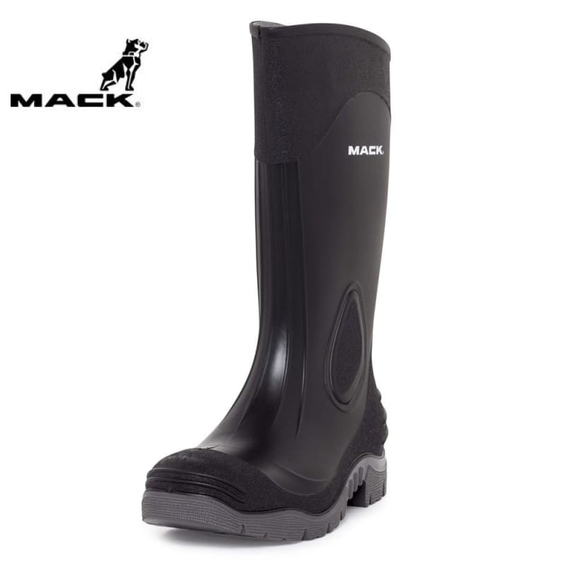 Mack Gumboot Pump Black/grey Steel Cap Workwear