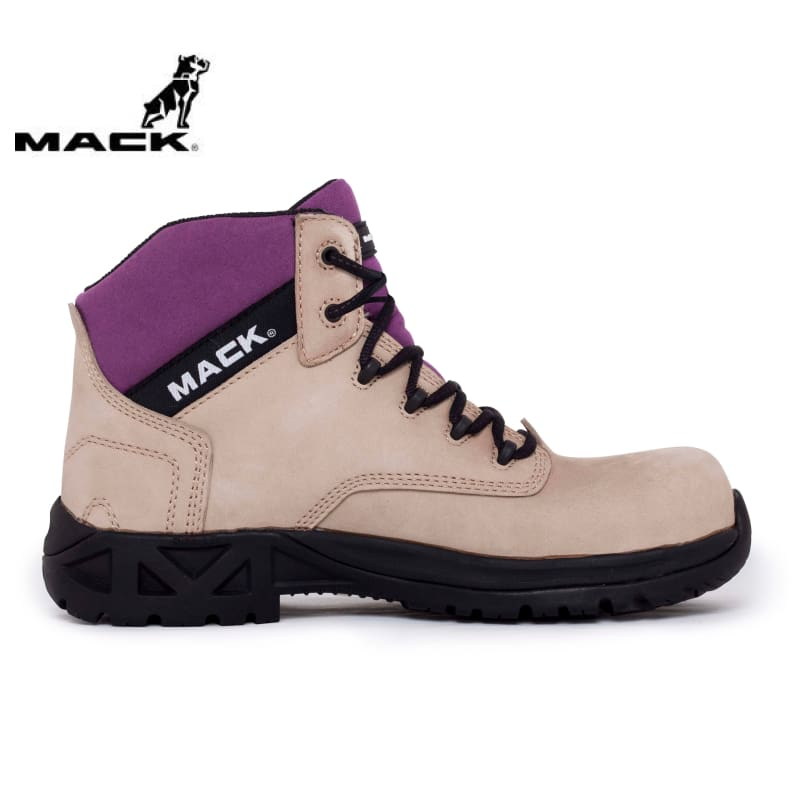 Mack Ladies Safety Boot Axel Purple/fawn Workwear