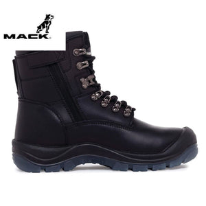 Mack Safety Boot Zip/lace Blast Black Workwear