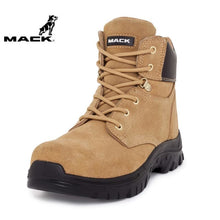 Load image into Gallery viewer, Mack Safety Boot Zip/lace Carpenter Honey Workwear