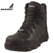 Load image into Gallery viewer, Mack Safety Boot Zip/lace Octane Black Workwear