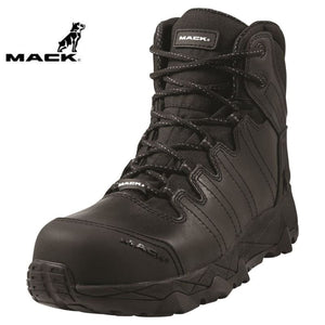Mack Safety Boot Zip/lace Octane Black Workwear