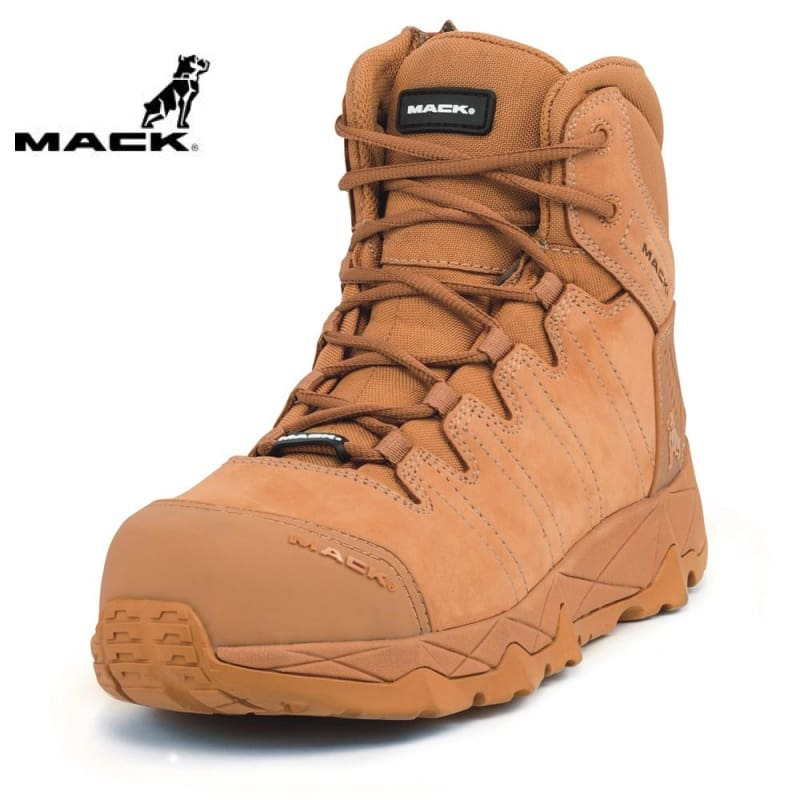 Mack Safety Boot Zip/lace Octane Honey Workwear