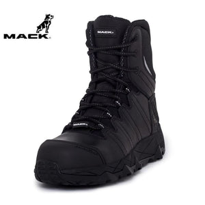 Mack Safety Boot Zip/lace Terrapro Black Workwear