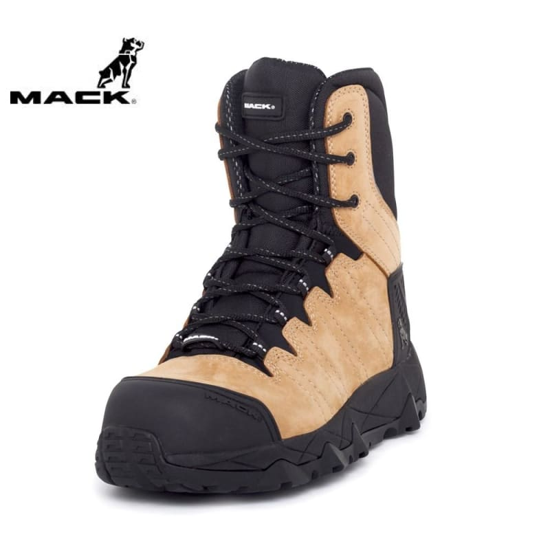 Mack Safety Boot Zip/lace Terrapro Honey Workwear