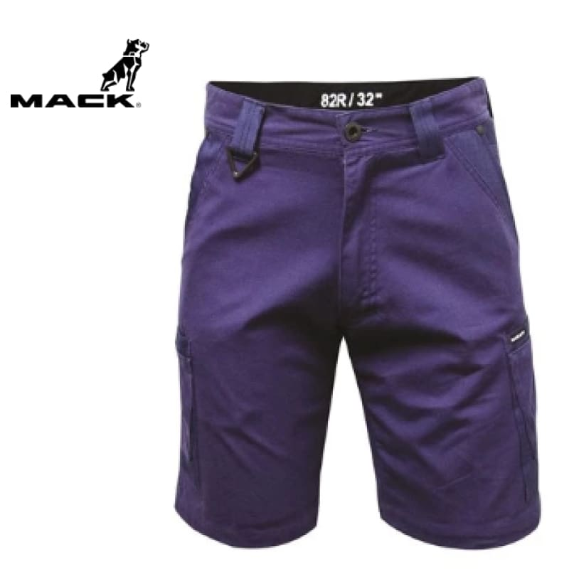 Mack Workwear Canvas Cargo Shorts Navy