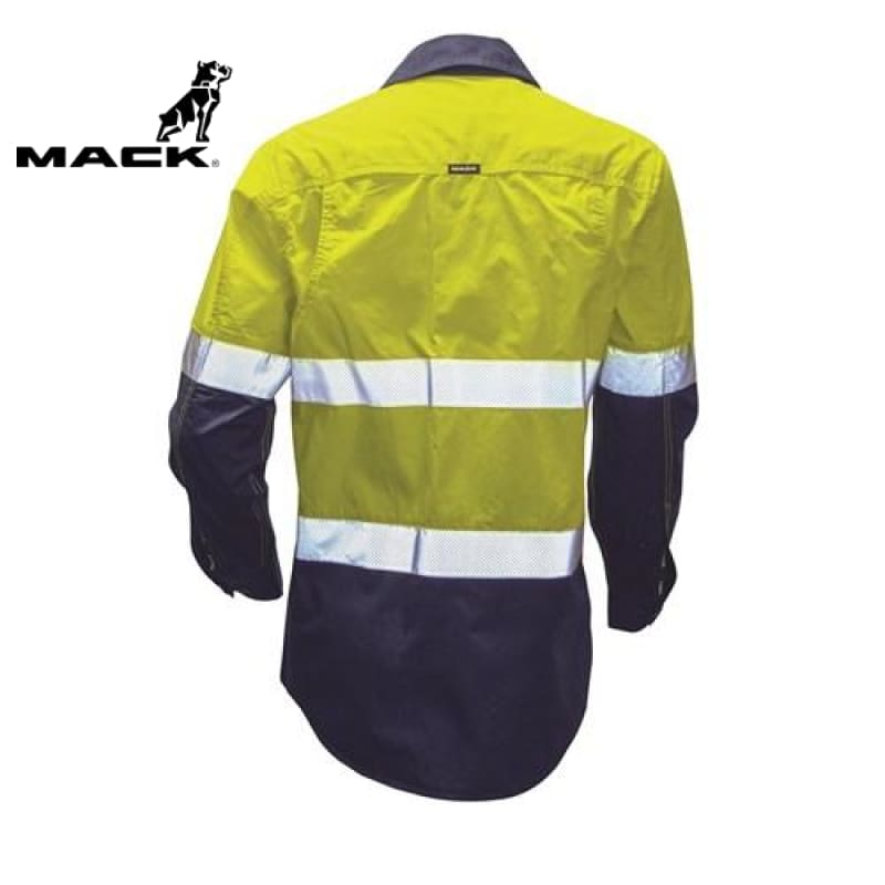Mack Workwear Long Sleeve Rip Stop Yellow/navy