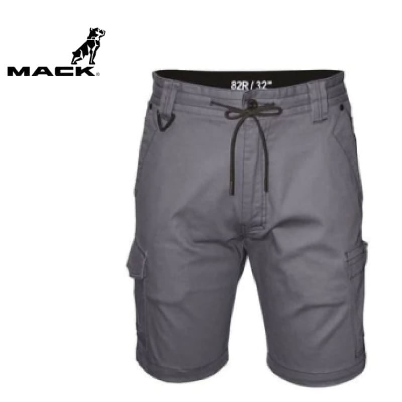 Mack Workwear Stretch Cargo Shorts Alloy
