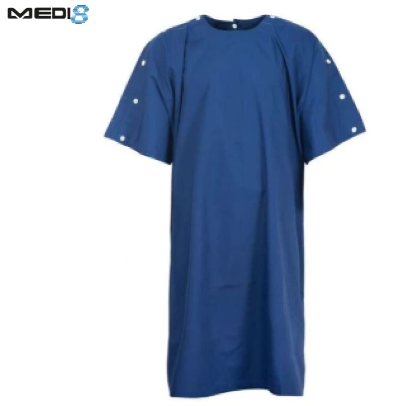 Medi-8 Bariatric Gown With Neck And Shoulders Studs Dark Blue Workwear