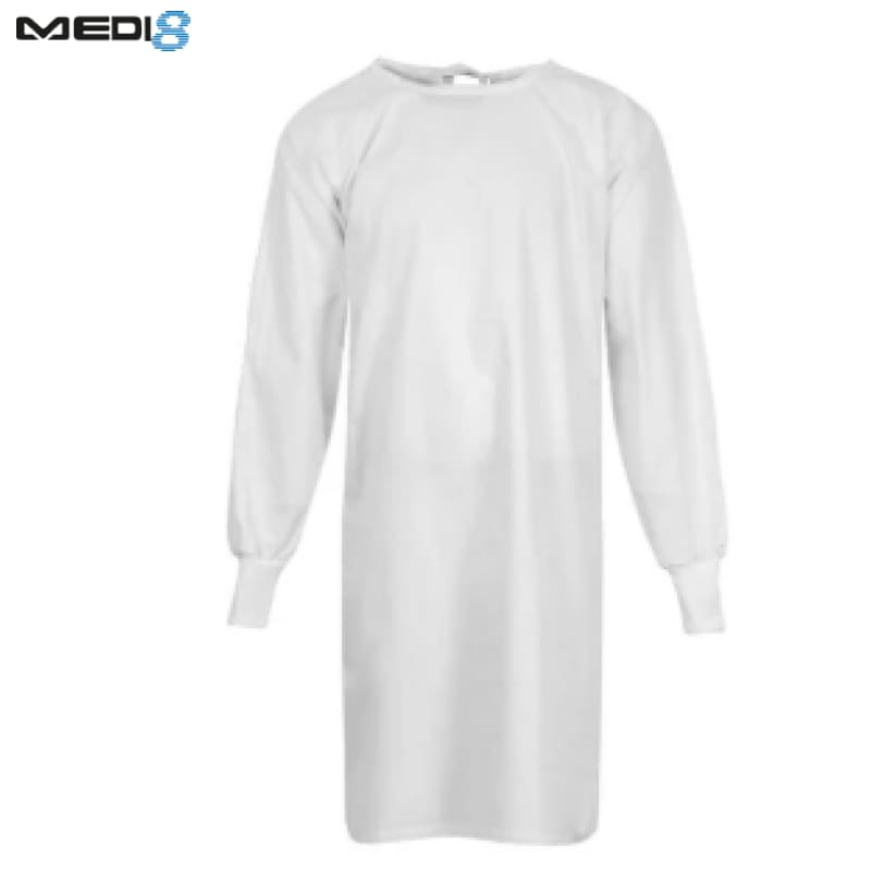 Medi-8 Patient Gown L/sleeve White Workwear