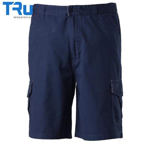 TRu Workwear - Shorts, Cotton Canvas Cargo, Navy