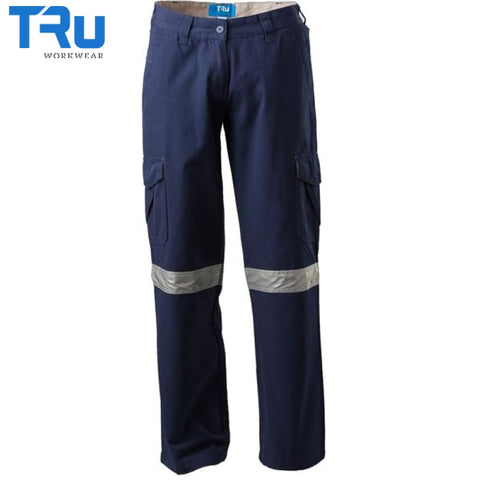 Mid Weight Cotton Canvas Work Trousers With 3M Tape Workwear