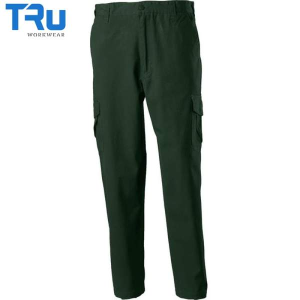TRu Workwear - Trouser, Cotton Canvas Cargo, Green