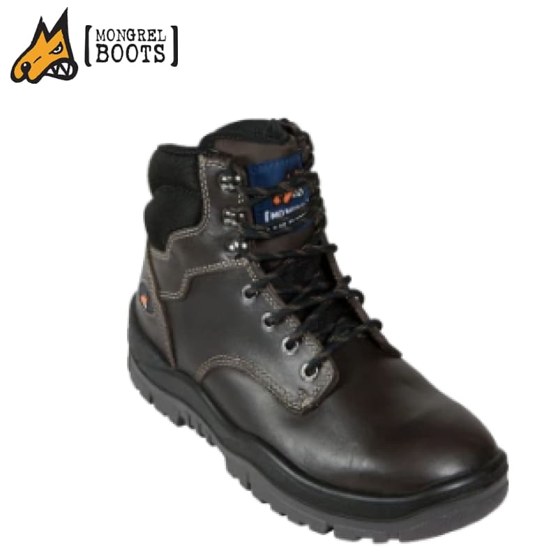Mongrel N Boot Non-Safety Lace Up Oil Kip Claret Workwear