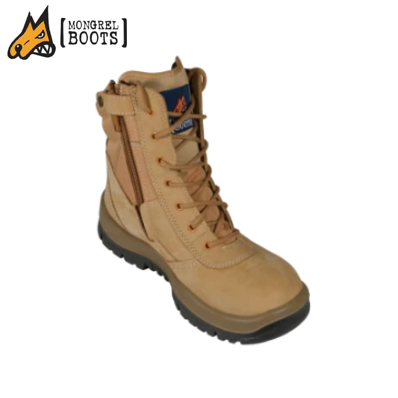 Mongrel P High Ankle Boot Zip Side Wheat Workwear