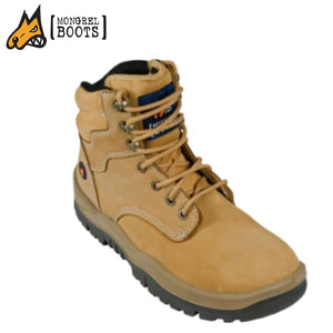 Mongrel P Womens Safety Lace Up Ankle Boot Wheat Workwear
