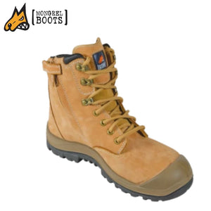 Mongrel R High Ankle Safety Boot Zip Side Wheat Workwear